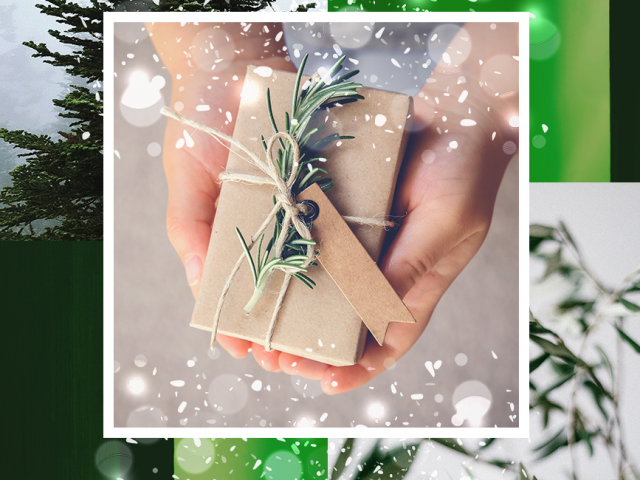 branded christmas gifts wrapped in carton paper