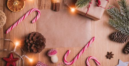 christmas marketing campaign image with wrapped gifts