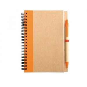 Recycled paper notebook & pen