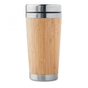 Double wall bamboo flask