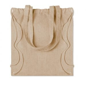 Recycled plastic two function bag