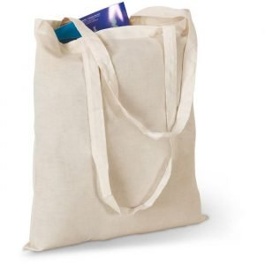 Cotton Shopping Tote Bag with long handles