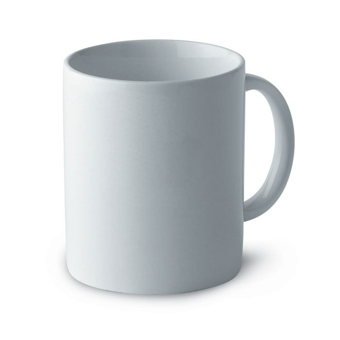 white irish mug with logo