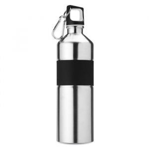 branded stainless steel bottle with rubber grip
