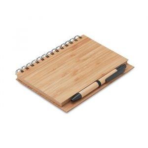 Cahier en Bamboo avec Stylo