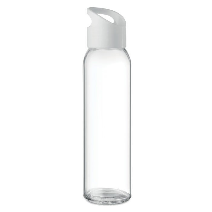 reusable branded glass bottle with PP lid
