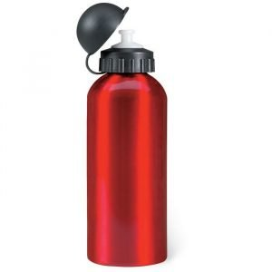 single wall aluminium bottle with a plastic