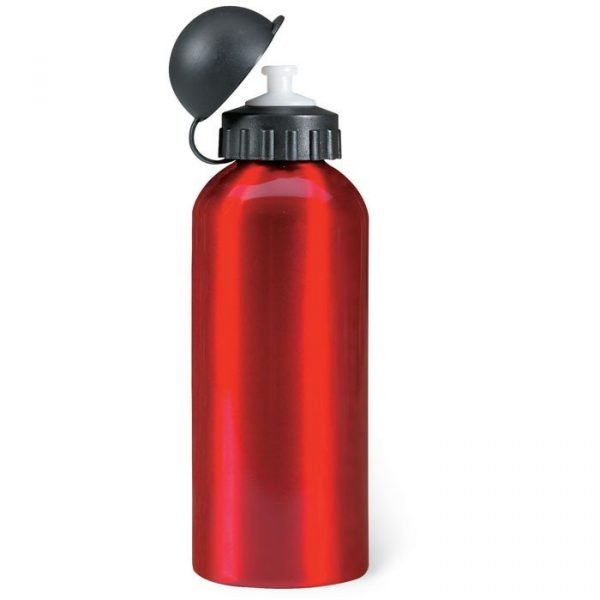 single wall aluminium bottle with a plastic removable cap