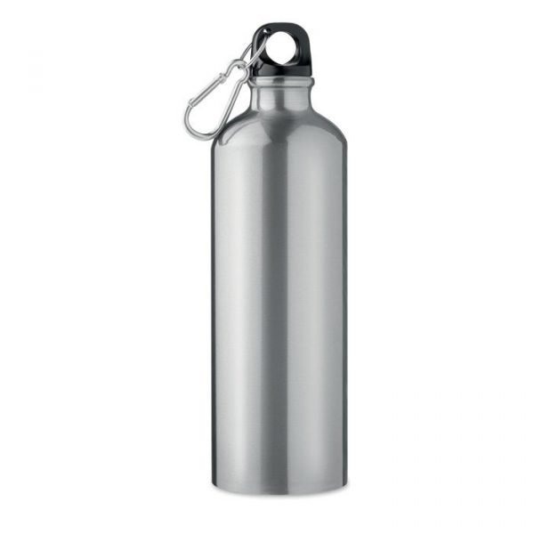 branded aluminium bottle with carabiner
