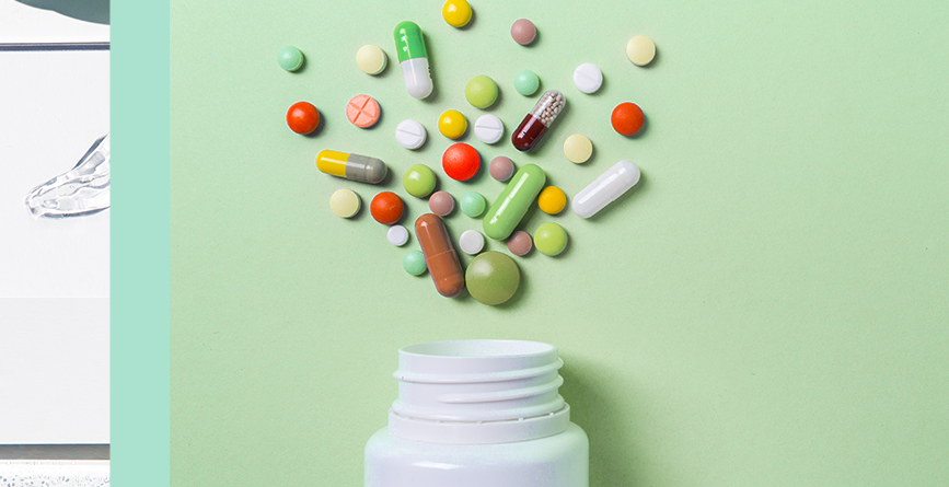 Promotional Products For Pharmaceutical Trade Shows with box full of pills