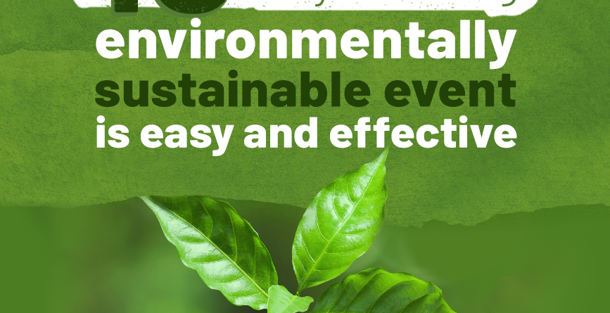 plant in open hands with environmentally sustainable event written above it