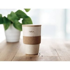 100% Eco Friendly Tumbler Cup in PLA corn, wheat straw, bamboo and cork