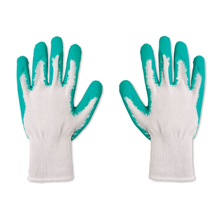 customisable garden gloves in yarn polyester and latex