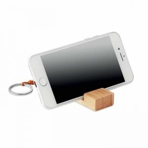 Bamboo Smartphone Stand Keyring