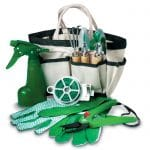 gardening tools set for with in a custom bag