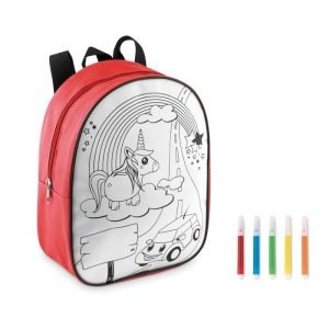 Backpack w/ colouring markers