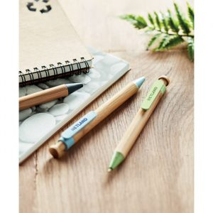 Ball Pen With Bamboo Barrel & Wheat Straw