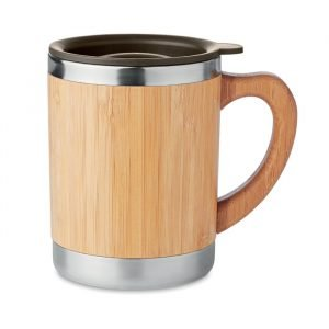 Bamboo & Stainless Steel Double Wall Tumbler