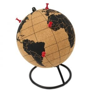 Globe made from cork (with pins)