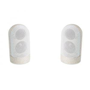 2 wheat straw speakers