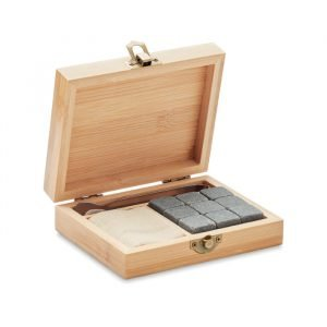 Reusable Whiskey Set in Bamboo Box