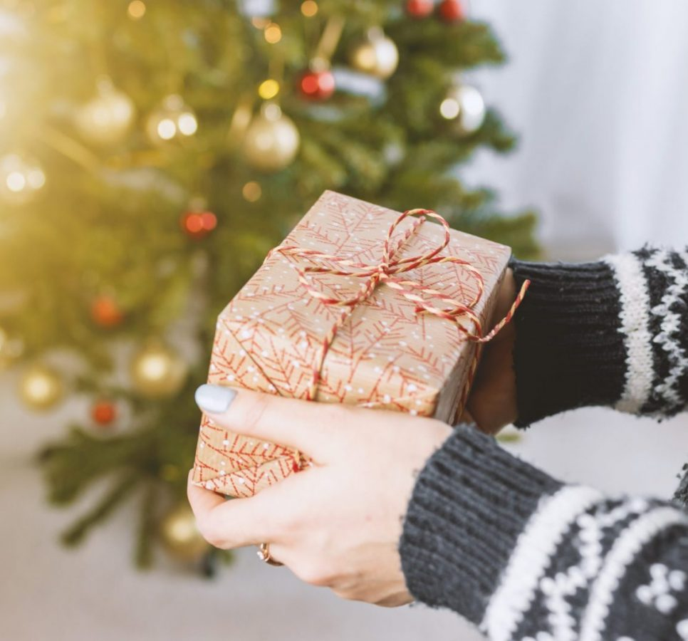 christmas marketing campaign wrapped gift