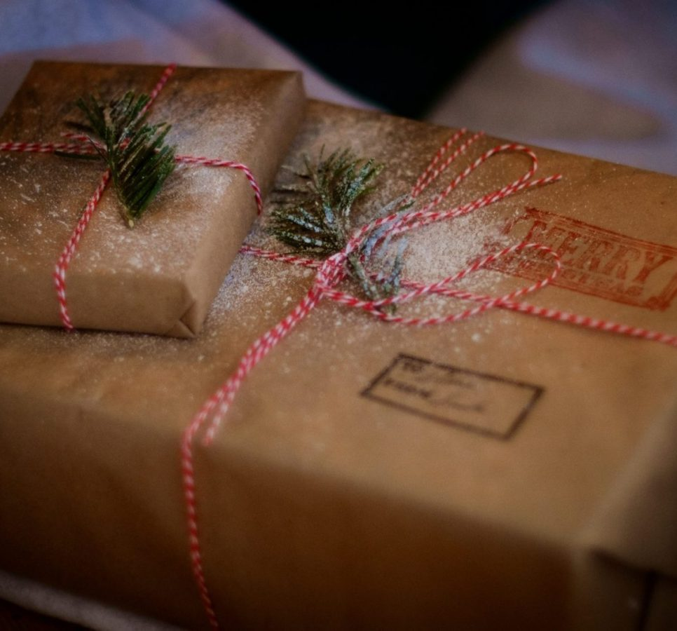 christmas marketing campaign image with wrapped gift